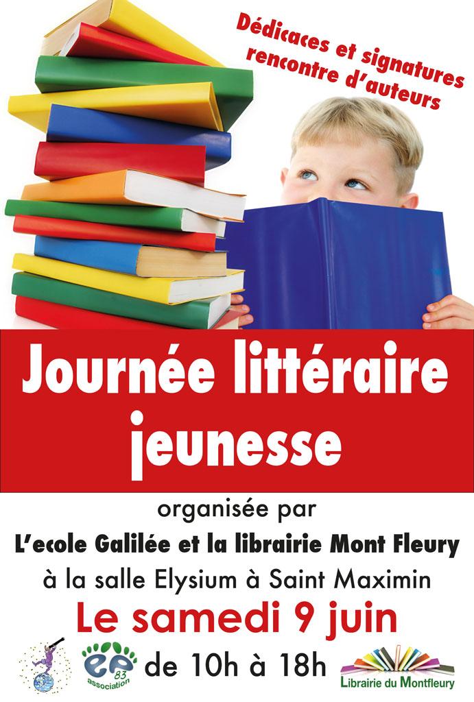 Samedi 9 juin - premier salon du livre jeunesse à Saint Maximin affiche-journee-litteraire
